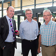 28/08/2015             <br /> Pharmaceutical Manufacturing Technology Centre (PMTC) Knowledge day at the Kemmy Business School, University of Limerick.    <br />   Pictured at the event were, Donal Coveney, Topchem, Conor Collins, GSk and John Flanagan, Chairman PMTC Steering Committee. Picture: Alan Place