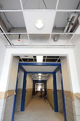 Hanover Elementary School - Kindergarten Addition<br /> James R Anderson Photographer   photog.com 203-281-0717<br /> Andrade Architects, LLC. Enfield Builders, Inc.<br /> Photography Date: 10 September 2012<br /> Camera View: Hallway and Ceiling, North End<br /> Image Number 09