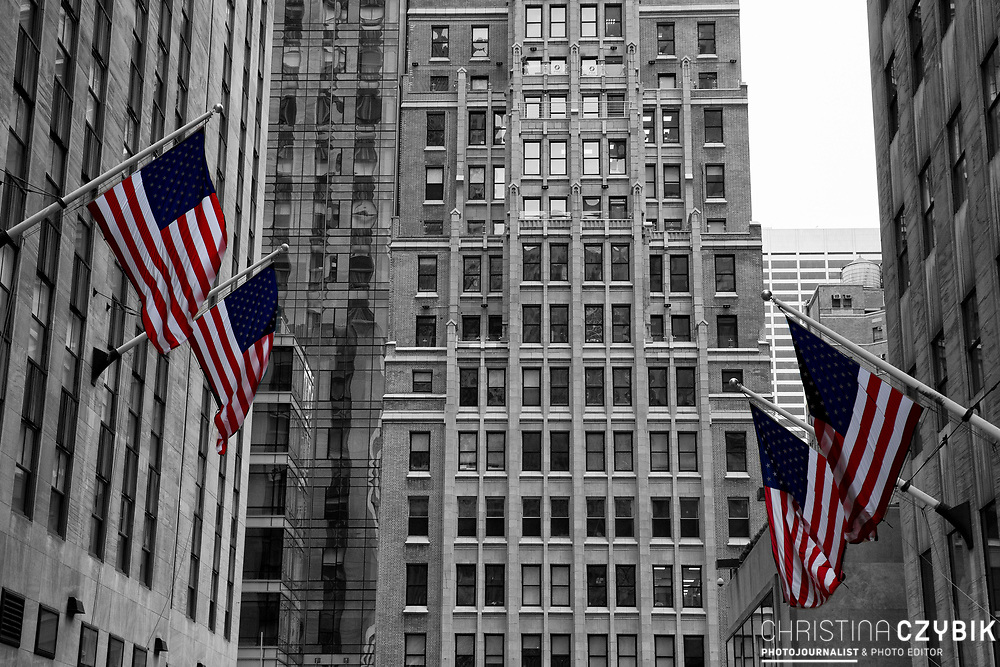 Color and Black and White Mix: Rockefeller Center in Manhattan, New York
