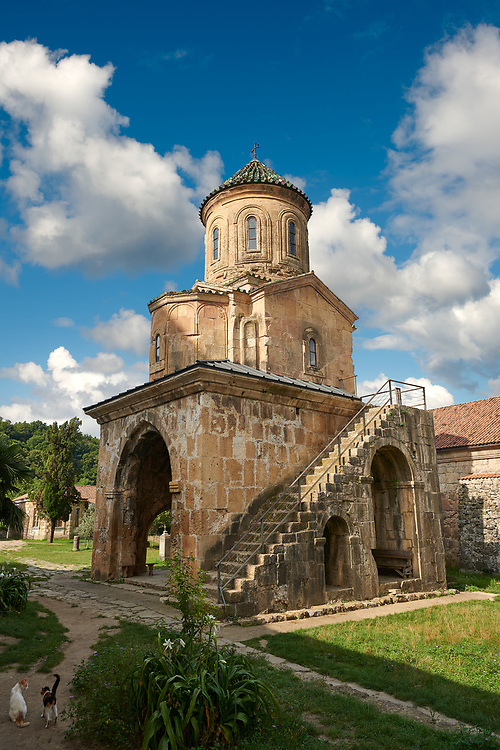 Pictures & images of Gelati Georgian Orthodox church of St. Nicholas, 13th century.  The medieval Gelati monastic complex near Kutaisi in the Imereti region of western Georgia (country). A UNESCO World Heritage Site. .<br /> <br /> Visit our MEDIEVAL PHOTO COLLECTIONS for more   photos  to download or buy as prints https://funkystock.photoshelter.com/gallery-collection/Medieval-Middle-Ages-Historic-Places-Arcaeological-Sites-Pictures-Images-of/C0000B5ZA54_WD0s<br /> <br /> Visit our REPUBLIC of GEORGIA HISTORIC PLACES PHOTO COLLECTIONS for more photos to browse, download or buy as wall art prints https://funkystock.photoshelter.com/gallery-collection/Pictures-Images-of-Georgia-Country-Historic-Landmark-Places-Museum-Antiquities/C0000c1oD9eVkh9c