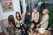 LAYLA POWELL ZOE COPSEY; MAHIMA RAWAT; TESSA HARDY; GRACE RACKHAM, Charlie Gilkes and Duncan  Stirling host Inception Group's Hamptons Garden party on the rooftop garden of the Ballymore marketing suite overlooking the site of the new US embassy. Embassy Gardens, London SW8.  12 July 2012.