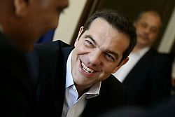 May 31, 2017 - Athens, Attica, Greece - PM Alexis Tsipras attends a meeting at the ministry of Interior, in Athens on June 1, 2017  (Credit Image: © Panayotis Tzamaros/NurPhoto via ZUMA Press)
