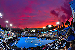 January 19, 2019 - Melbourne, Australia - The sunset above Men's Doubles competition during the Australian Open tennis tournament. (Credit Image: © Chryslene Caillaud/Panoramic via ZUMA Press)