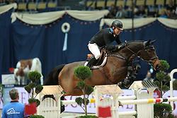 Gulliksen Geir, (NOR), Violetta D<br /> DKB-Riders Tour<br /> Grand Prix Kreditbank Jumping München 2015<br /> © Hippo Foto - Stefan Lafrentz