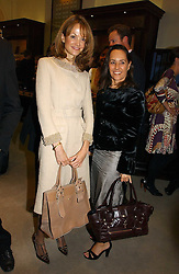 Left to right, CAROLINE CHAMBERLEN and SARAH MANLEY at a party to celebrate the 10th anniversary of the Smythson Fashion Diary and to the launch of the 2007 Limited Edition held at Smythson, New Bond Street, London on 25th October 2006.<br /><br />NON EXCLUSIVE - WORLD RIGHTS