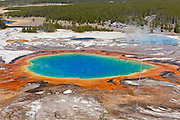 Grand Prismatic Spring in Yellowstone National Park Wyoming
