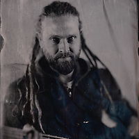 Tintype images of the band King Porter Stomp taken in Brighton, December 2016