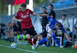 Magnus Westergaard (Lyngby Boldklub) taber duel med Jens Stage (FC København) under kampen i 3F Superligaen mellem Lyngby Boldklub og FC København den 1. juni 2020 på Lyngby Stadion (Foto: Claus Birch).
