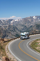 Rv on Beartooth Highway Wyoming
