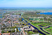Nederland, Noord-Holland, regio Waterland, 20-04-2015; Oostzaan, Kerkebuurt.  Het dorp maakt deel uit van de  Stadsregio Amsterdam (plusregio). <br /> Oostzaan, village north of Amsterdam.<br /> luchtfoto (toeslag op standard tarieven);<br /> aerial photo (additional fee required);<br /> copyright foto/photo Siebe Swart