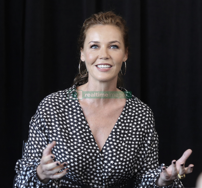 May 19, 2017 - Hollywood, California, U.S. - CONNIE NIELSEN promotes 'Wonder Woman.' Connie Inge-Lise Nielsen (born July 3, 1965) is a Danish actress whose first major role in an English language film was a supporting role in The Devil's Advocate (1997); Nielsen later gained international attention for her role in Gladiator (2000). Her films include Mission to Mars (2000), One Hour Photo (2002), Basic (2003), The Hunted (2003), The Ice Harvest (2005) and Nymphomaniac (2014). She starred as Meredith Kane on the Starz TV series Boss (2011–2012) and was a lead character in the second season of The Following. She is set to play Queen Hippolyta in the upcoming 2017 film Wonder Woman. Justice League (2017), Wonder Woman (2017), Music, War and Love, Hamlet Revenant, The Catcher Was a Spy, Tonight at Noon, Stratton (2017). (Credit Image: © Armando Gallo via ZUMA Studio)