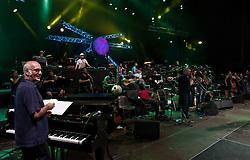 Melpignano 26 Agosto 2011<br /> Ultimi preparativi e prove generali per il concertone finale della Notte Della Taranta