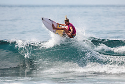 May 16, 2019 - Bali, Java, Indonesia - Defending event winner LAKEY PETERSON of the United States is eliminated from the 2019 Corona Bali Protected with an equal 9th finish after placing second in Heat 7 of Round 3 at Keramas on May 16, 2019 in Bali, Indonesia.(Photo by Matt Dunbar/WSL via Getty Images) (Credit Image: © Matt Dunbar/WSL via ZUMA Wire/ZUMAPRESS.com)