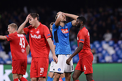 November 5, 2019, Napoli, Napoli, Italia: Foto Cafaro/LaPresse.5 Novembre 2019 Napoli, Italia.sport.calcio.SSC Napoli vs FC Salzburg - Uefa Champions League stagione 2019/20 Gruppo E, giornata 4 - stadio San Paolo.Nella foto: Fernando Torres Llorente (SSC Napoli) deluso...Photo Cafaro/LaPresse.November 5, 2019 Naples, Italy.sport.soccer.SSC Napoli vs FC Salzburg - Uefa Champions League 2019/20 season Group E matchday 4 - San Paolo stadium.In the pic: Fernando Torres Llorente (SSC Napoli) shows his disappointment. (Credit Image: © Cafaro/Lapresse via ZUMA Press)