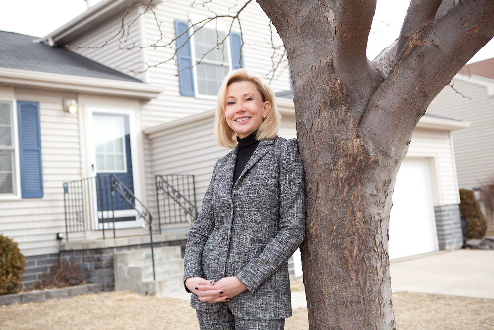 01 March 2012- Mary Kay Young (realtor)  is photographed in Omaha, Nebraska for Her Magazine.