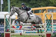 STRIKE SMARTLY ridden by Daisy Berkeley at Bramham International Horse Trials 2016 at  at Bramham Park, Bramham, United Kingdom on 12 June 2016. Photo by Mark P Doherty.
