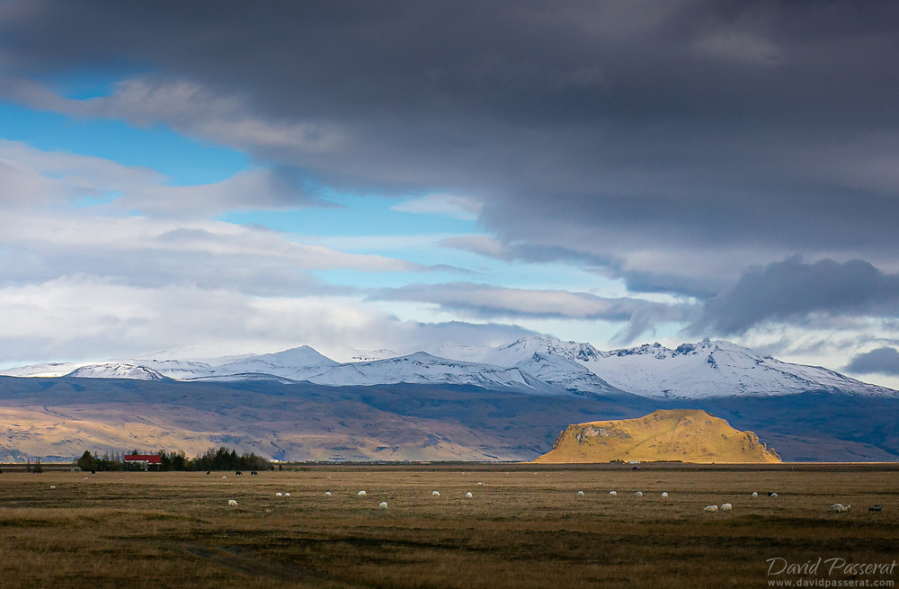 Rude landscape of rocks and mountains in Iceland