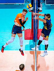 Bennie Tuinstra of Netherlands in action during the CEV Eurovolley 2021 Qualifiers between Sweden and Netherlands at Topsporthall Omnisport on May 14, 2021 in Apeldoorn, Netherlands
