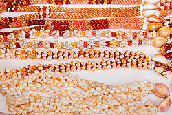 Ni`ihau Shell Leis, hand-crafted and tightly packed traditional leis, several hundred to several thoussand dollars each, Kauai, Hawaii