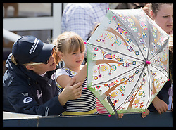 August 5, 2017 - United Kingdom - Image licensed to i-Images Picture Agency. 05/08/2017. Gatcombe Park, United Kingdom. Zara Tindall and her daughter Mia on the second day of the Festival of British Eventing at Gatcombe Park, United Kingdom.  Picture by Stephen Lock / i-Images (Credit Image: © Stephen Lock/i-Images via ZUMA Press)