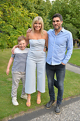 Kate Thornton and her son ben and partner Matt at the Dulwich Picture Gallery's inaugural Summer Party, Dulwich Picture Gallery, College Road, London England. 13 June 2017.
