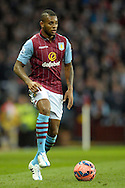 Leandro Bacuna of Aston Villa in action. The FA cup, 6th round match, Aston Villa v West Bromwich Albion at Villa Park in Birmingham, Midlands on Saturday 7th March 2015<br /> pic by John Patrick Fletcher, Andrew Orchard sports photography.