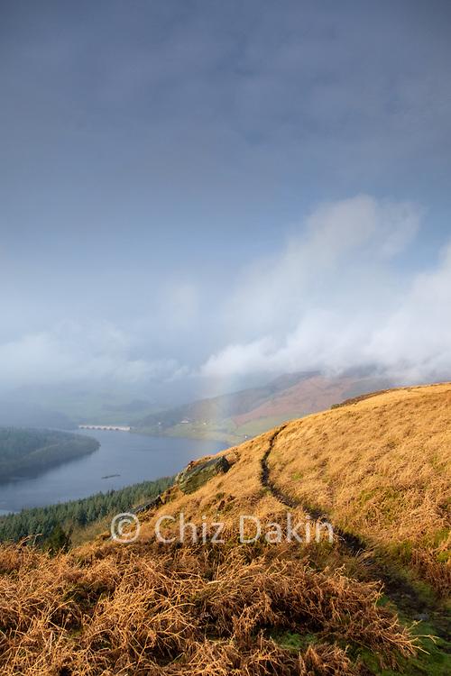 Rainbow over Ladybower Reservoir from Bamford Edge