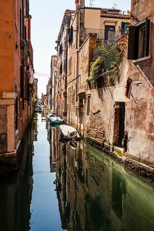 A Venice canal, Italy.