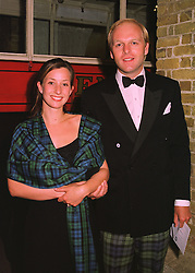 MR ANTHONY & LADY LOUISE BURRELL, she was Lady Louise Campbell daughter of the Duke of Argyll, at a fashion show in London on 12th May 1998.MHL 13