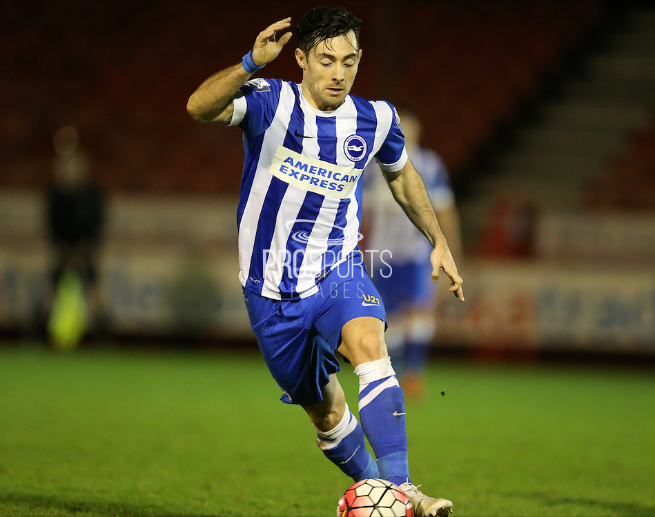 Richie Towell, Brighton striker during the Barclays U21 Premier League match between Brighton U21 and U21 West Bromwich Albion at the Checkatrade.com Stadium, Crawley, England on 25 January 2016.