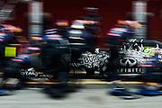 February 19-22, 2015: Formula 1 Pre-season testing Barcelona : Daniil Kvyat, (RUS), Red Bull-Renault, pitstop
