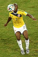 Fifa Soccer World Cup - Brazil 2014 - <br /> JAPAN (JPN) Vs. COLOMBIA (COL) - Group C - Arena Pantanal Cuiaba - Brazil (BRA) - June 24, 2014 <br /> Here Colombian player Pablo Armero <br /> © PikoPress