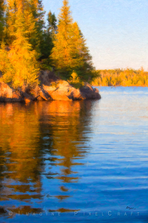 Canadian Shield Lake Scene