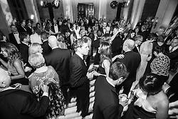 wedding guests dancing at a gay wedding