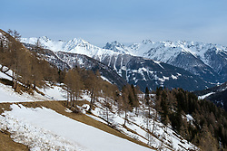 THEMENBILD - Panoramablick über das Kalsertal und die Gipfel der Schobergruppe, am Montag, 5. April 2021 // a panoramic view over the Kalsertal and the peaks of the Schobergruppe, on Monday, April 5, 2021. Kals, Austria. EXPA Pictures © 2021, PhotoCredit: EXPA/ Johann Groder