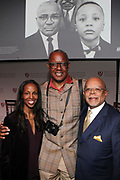 CAMBRIDGE, MASSACHUSETTS-APRI 26: (L-R) Author/Curator/Educator Sarah E. Lewis, Author/Photographer Jamel Shabazz and Educator/Author Dr. Henry Louis Gates attend the 209 Inaugural Vison & Justice, A Convening' organized by the Radcliffe Institute, The Hutchins Center and the Ford Foundation curated by Sarah E. Lewis, Ph.D, Harvard University held at the Radcliffe Center on April 25, 2019 in Cambridge, Massachusetts  (Photo by Terrence Jennings/terrencejennings.com)