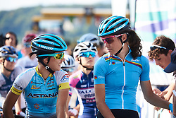 Sofia Bertizzolo (ITA) on the start line at La Course by Le Tour de France 2018, a 112.5 km road race from Annecy to Le Grand Bornand, France on July 17, 2018. Photo by Sean Robinson/velofocus.com