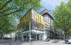 The poshest McDonalds in the world, made of glass and gold - 9 Nov 2017