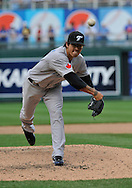 April 30, 2008:  Pitcher Brando League #22 of the Toronto Blue Jays delivers a pitch during a game against the Kansas City Royals at Kauffman Stadium in Kansas City, Missouri.  The Royals defeated the Blue Jays 8-6...