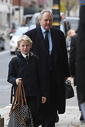 William Legge, Earl of Dartmouth, arriving at the Grosvenor Chapel in London's Mayfair for a memorial service to commemorate the life of Raine Spencer, the stepmother of Diana, Princess of Wales, who died last month aged 87 after a short illness.
