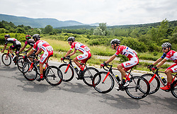 Jure Golcer (SLO) of KK Adria Mobil, Gorazd Per (SLO) of KK Adria Mobil, Radoslav Rogina (CRO) of KK Adria Mobil and Dusan Rajovic (SRB) of KK Adria Mobil during Stage 1 of 24th Tour of Slovenia 2017 / Tour de Slovenie from Koper to Kocevje (159,4 km) cycling race on June 15, 2017 in Slovenia. Photo by Vid Ponikvar / Sportida