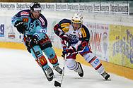 15.03.2011, Rapperswil-Jona, Eishockey NLA Playout, Rapperswil-Jona Lakers - HC Ambri-Piotta, Andreas Furrer (LAK) gegen Trevor Meier (AMB)  (Thomas Oswald/hockeypics)