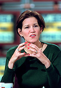 Conservative commentator Mary Matalin during NBC's Meet the Press December 20, 1998 in Washington, DC.