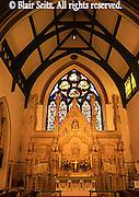 Historic church interior, Jim Thorpe, Poconos, NE PA