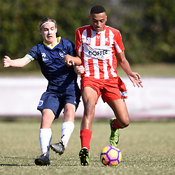 BRISBANE, AUSTRALIA - AUGUST 6:  during the NPL Queensland Under 18 Boys Round 20 match between Olympic FC and Gold Coast City FC at Goodwin Park on August 6, 2017 in Brisbane, Australia. (Photo by Patrick Kearney/Olympic FC)