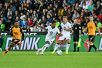 Football - 2019 / 2020 EFL Carabao (League) Cup - Second Round: Swansea City vs. Cambridge United<br /> <br /> Wayne Routledge of Swansea City on the attack , at Liberty Stadium.<br /> <br /> COLORSPORT/WINSTON BYNORTH