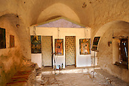 Greek Orthodox church interior Paliachora,   Aegina, Greek Saronic Islands .<br /> <br /> If you prefer to buy from our ALAMY PHOTO LIBRARY  Collection visit : https://www.alamy.com/portfolio/paul-williams-funkystock/aegina-greece.html <br /> <br /> Visit our GREECE PHOTO COLLECTIONS for more photos to download or buy as wall art prints https://funkystock.photoshelter.com/gallery-collection/Pictures-Images-of-Greece-Photos-of-Greek-Historic-Landmark-Sites/C0000w6e8OkknEb8