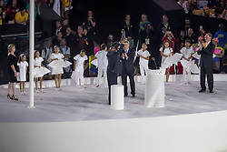 The first Olympic Laurel Kenyan Kipchoge, Opening ceremony<br /> Olympic Games Rio 2016<br /> © Hippo Foto - Dirk Caremans<br /> 05/08/16