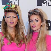 NLD/Amsterdam/20181029 - MTV pre party 2018, Kim Kotter (L) en ............