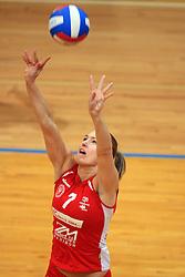Maja Gustin of Nova KBM at 1st match of finals of 1st DOL women volleyball league between OK Hit Nova Gorica and OK Nova KBM Branik, Maribor played in OS Milojke Strukelj, on April 8, 2009, in Nova Gorica, Slovenia. Nova KBM Branik won 3:1. (Photo by Vid Ponikvar / Sportida)